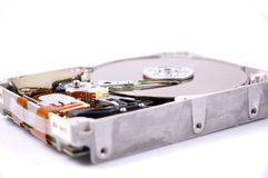 Hard disk. Drive isolated on white stock images