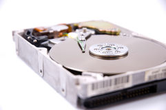 Hard disk. Drive isolated on white Royalty Free Stock Photos