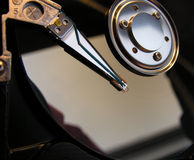 Hard disk. In detail with head and platters Stock Images