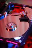 Hard disk background Stock Photo