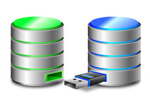 Hard disk backup concept Royalty Free Stock Photography