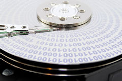 Hard disk binary Royalty Free Stock Photos