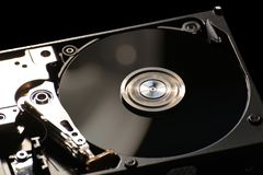 Hard Disk On Black Royalty Free Stock Images