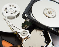 Hard Disk and Book Stock Photography
