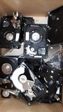 Hard disk  broken. Hdd hard disk broken blackground breakdown royalty free stock photography