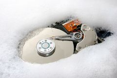 Hard disk cleanup. Performing disk cleanup (the wrong way Stock Image