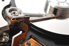 Hard disk close up Stock Image