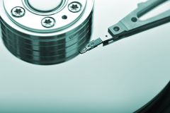 Hard disk close up Royalty Free Stock Photo