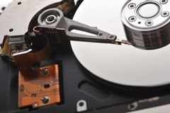 Hard disk close up Stock Photography