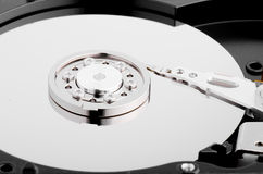 Hard Disk Close Up With Reflection Stock Photo