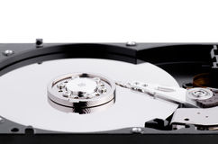 Hard Disk Close Up With Reflection Royalty Free Stock Photos