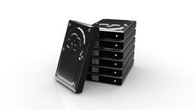 Hard Disk with the Cloud upload symbol Royalty Free Stock Photography