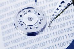 Hard disk of a computer Royalty Free Stock Photo