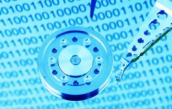 Hard disk of a computer Stock Photo