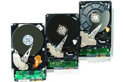 Hard disk for computer on isolated white background. Hard disk isolated on a white background Royalty Free Stock Photo