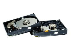 Hard disk for computer on  white background. Hard disk  on a white background Stock Photos