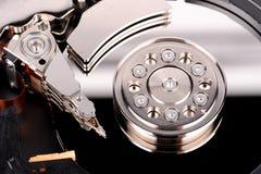 A hard disk cylinder, macro Royalty Free Stock Photo