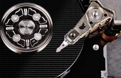 A hard disk cylinder, macro Royalty Free Stock Image