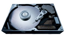 Hard disk and data Royalty Free Stock Photography