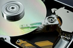 Hard disk and data Stock Photos