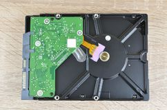 Hard disk on a desk Royalty Free Stock Image