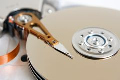 Hard disk detail. A horizontal picture Royalty Free Stock Images