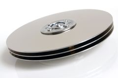Hard disk detail. On white background Stock Image