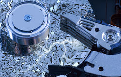 Hard disk detail with  surface splinters Royalty Free Stock Photos