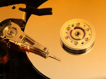 Hard disk detail image Royalty Free Stock Photo