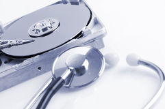 Hard disk details Stock Photo