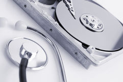 Hard disk details Royalty Free Stock Images