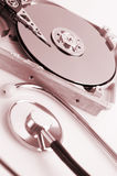 Hard disk details Royalty Free Stock Image