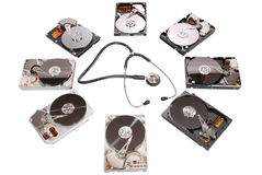 Hard disk diagnosis Stock Images