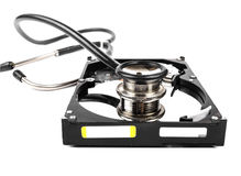 Hard disk diagnostic Royalty Free Stock Images
