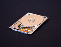 Hard disk drive. Isolated on black background Royalty Free Stock Image