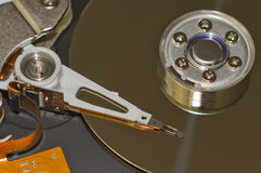 Hard Disk Drive. Close-up of the opened Hard Disk Drive Stock Image