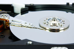 Hard disk drive. Close up image of hard disk drive Stock Photography