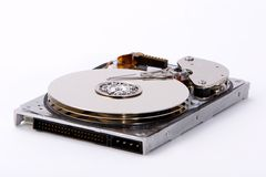 Hard Disk Drive. Disk drive with platters exposed Stock Photo