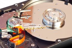 Hard Disk Drive. With water drops Royalty Free Stock Image