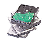 Hard disk drive. Close up of hard disk drive isolated on white background Stock Photography