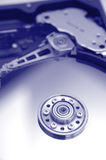 Hard disk Drive. A closeup shot of an opened hard disk drive. Low DOF Royalty Free Stock Photo