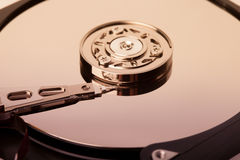 Hard disk drive. Inside. Data safety concept Stock Photography