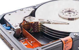 Hard disk drive. Open hard disk drive Stock Photos