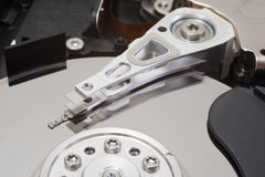 Hard disk drive. Studio shot of hard disk (hard drive, hard disk drive Royalty Free Stock Images