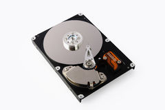 Hard disk drive. Isolated on White Stock Photos