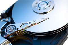 Hard disk drive. Close up of modern opened hard disk drive Royalty Free Stock Images