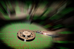 Hard Disk Drive with abstract color reflection. Royalty Free Stock Images