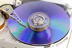 Hard disk drive in blue Royalty Free Stock Photos