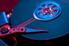 Hard disk drive. Blue color Stock Images