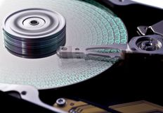 Hard disk drive in close up Stock Photography